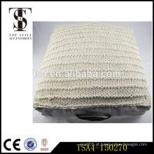 Simples de tricô branco planície algodão cobrir almofada almofada segurar almofada Voltar blaster
