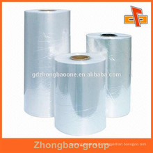 lower price blue clear heat shrink plastic film for printing sleeve raw material