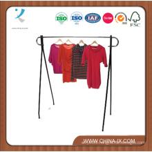 Black & Chrome Single Rail Garment Rack