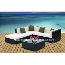 Set de sofá de jardín Conjunto de muebles de jardín de ratán / mimbre
