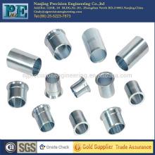 Manches en acier inoxydable cnc haute précision personnalisées