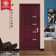 Placage d'intérieur de haute qualité Portes en bois pour les pièces contreplaqué prix de la porte