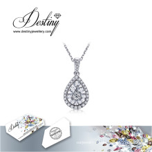Destin bijoux cristal de Swarovski Collier goutte pendentif