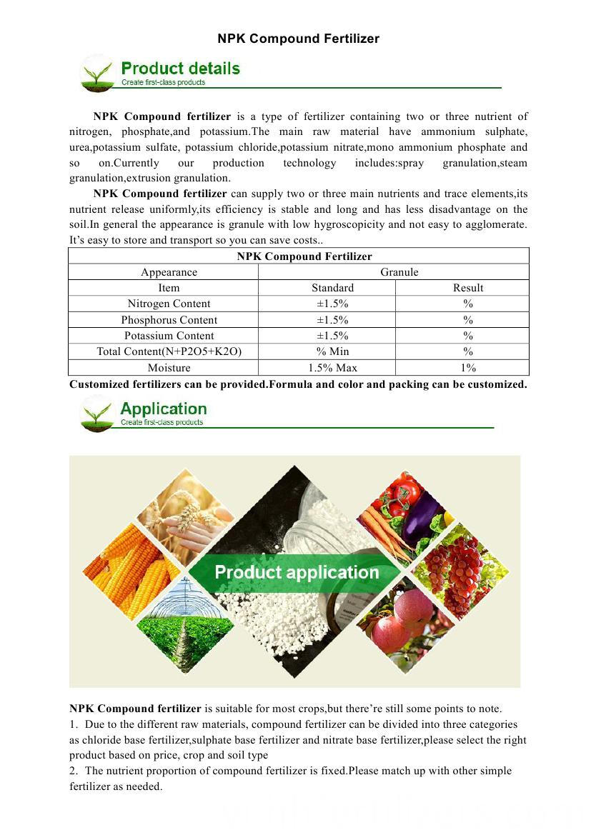 NPK compound fertilizer0000