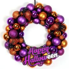 Decoração de grinalda de bola de Halloween decorada com suspenso