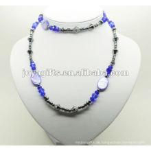 Mode Hämatit Wrap mit blauen Kristall Perlen