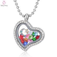 Sinnvoller Charme-bester Freund-kleiner Foto-Rahmen-hängende Halskette, Quarz-Kristallfotorahmen-Anhänger-Halskette