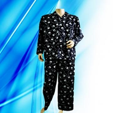 100% Cotton Allover Print Flannel Man′s Pajamas