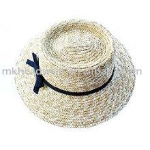 Sombrero de paja de la manera con la cintura de la hierba