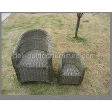 Chaise de jardin de Style américain en aluminium Bistro rotin extérieur