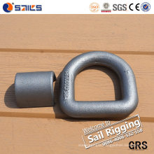 High Load Carbon Steel Forged D Ring with Wrap Clip