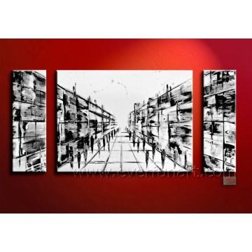 Vente en gros de peintures à la main à la main peinture abstraite à l'huile (XD3-003)