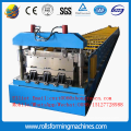 Double deck roofing tile machine