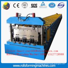 Rolling floor decking machine