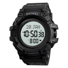 Skmei 1680 Man Japan Movement 5atm Waterproof Round Alloy luxury Wholesale Digital Sport Multi-function Qibla Watch