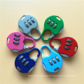 Zinc Alloy Colorful Combination School Bag Padlock