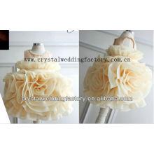 Vestido caliente rebordeado 2012 del desfile de la niña del champán de la muestra del cortocircuito caliente del vestido de bola de la venta CWFaf5322