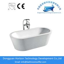 Customized for Stand Alone Oval Bathtub Sanitary Ware Acrylic freestanding acrylic tub supply to France Exporter