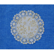 Printed round paper doily 7.5inch