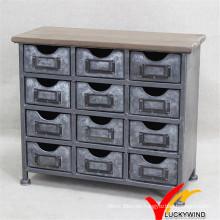 Mini gabinete de metal Antique Decoración Vintage industrial muebles