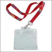 Lanière faite sur commande de support de bobine de badge d'insigne de carte d'identification / carte d'identification avec le support d'identification (NLC015)