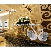 Nouveau design belle résine de cygne montre pièces de décoration pour gros