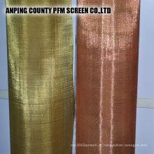 Rede de arame de cobre de bronze estanhado industrial de 150 mícrons da qualidade superior da categoria para cobertas da parede e do pódio