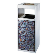 Stainless Steel Rectangle Waste Bin for Lobby (YW0073)