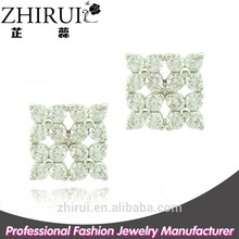 cheap chinese jewelry factory cheap wholesale stud earrings square earring
