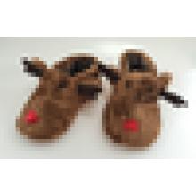 Низкая цена Детские животные тапочки Оптовая Симпатичные Зимний закрытый тапочки для детей