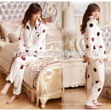 Nuit de coton flanelle chaude femmes pyjama dormir porter