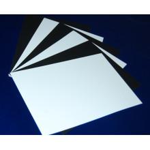 Hoja de PVC mate blanco para impresión offset