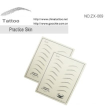 Fake Pladstic Eyebrow Permdanent Make up Tattoo Practise Skin