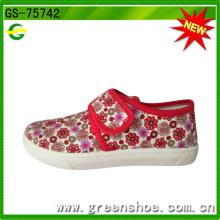 Prix en gros usine meilleurs types de chaussures en toile de Chine