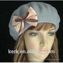 El vestido de encargo de la manera hizo punto el sombrero y las gorritas tejidas al por mayor del bowknot que hacían punto los sombreros