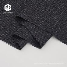 Tissu tricoté de conception mouchetée Tissu teint en fil