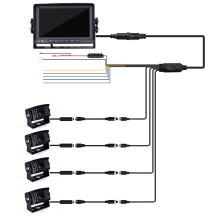 Quad Backup Camera Monitor Kit
