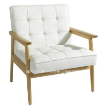 White Leather Upholstered Solid Wood Hotel Chair (SP-EC729)
