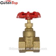 LB-GutenTop 4 polegada faca latão válvula de porta BSP rosca válvulas portão de petróleo e gás gasoduto