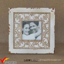 Shabby Chic Wood Tabela Versão Casais Madeira Carving Photo Frame