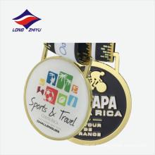 Plane Gold Sport Auszeichnung Medaillon mit Nackenband Stempel Metall Medaille