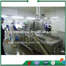 Machine à laver aux légumes recouverts d'eau