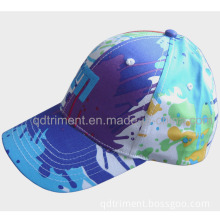 6-Panel Colorful Print Cotton Embroidery Custom Leisure Fashion Hat (TM2155-1)