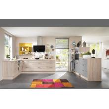 Popular para design de gabinete de cozinha do mercado do Canadá com acabamento de laca moderna