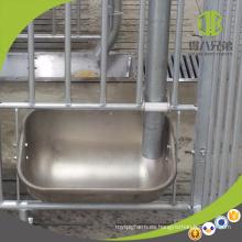 Canal de acero inoxidable fácil de limpiar para sembrar en la jaula de parto
