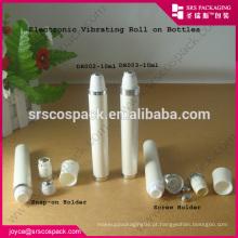 Whosale vazio roll-on skincare recipiente, branco vibração10ml Roll On Bottle para creme para os olhos