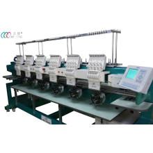 Computadorizado 6 cabeças de boné / t-shirt bordado máquina