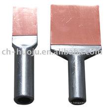 Bimetallic compression terminal clamp (soldering)