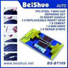 8PCS Motorcycle/Car Tubeless Tyre Puncture Repair Kit Tool Tire Plug Auto 5 Strip
