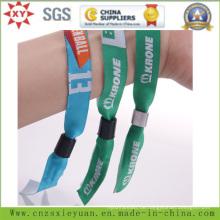 Fashion Event Polyster Woven Armbänder mit Tube Slide Lock